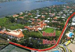 Mar-a-Lago Road Block