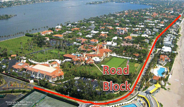 Mar-a-Lago Road Block