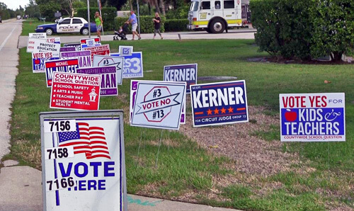 Campaign Signs at South Precinct