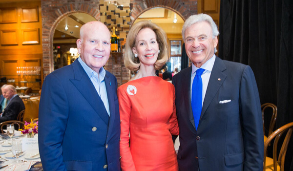 Bob Wright, Civic Association Chairman; Ambassadors Bonnie McElveen-Hunter and Stuart Bernstein