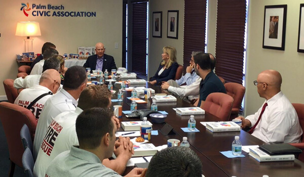 Bob Wright Talks Leadership with Palm Beach Police & Fire-Rescue