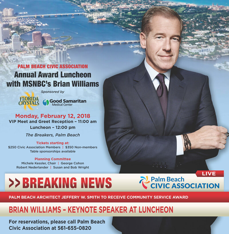 Palm Beach Civic Association Annual Awards Luncheon Newspaper ad