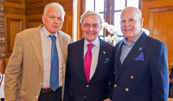 Photo: Ambassador Craig Stapleton, Ambassador Howard Leach, Civic Association Chairman Bob Wright
