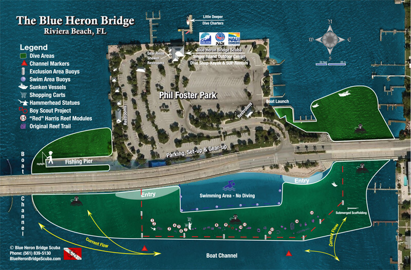 Phil Foster Park Dive Map