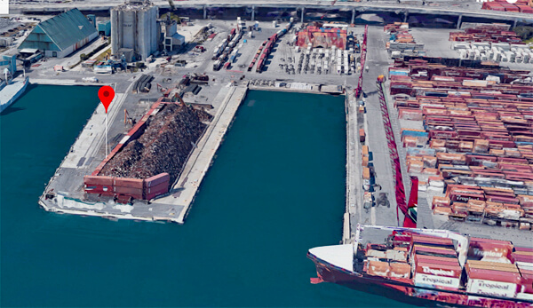 Port of Palm Beach Scrap Pile Aerial