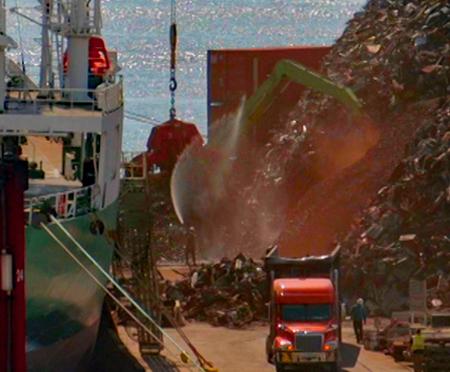 Port of Palm Beach Metal Scrap Pile Up-Close 6-6-19