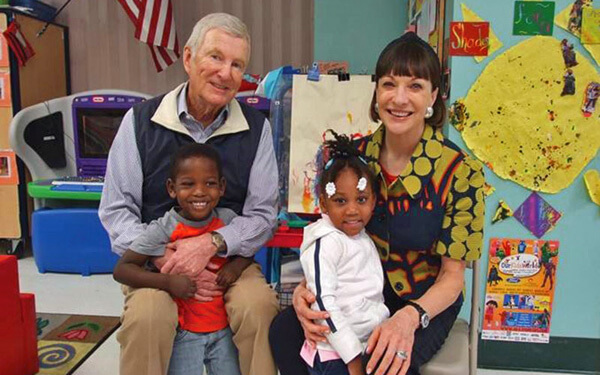 David and Jill. Gilmour at Opportunity Early Learning Center
