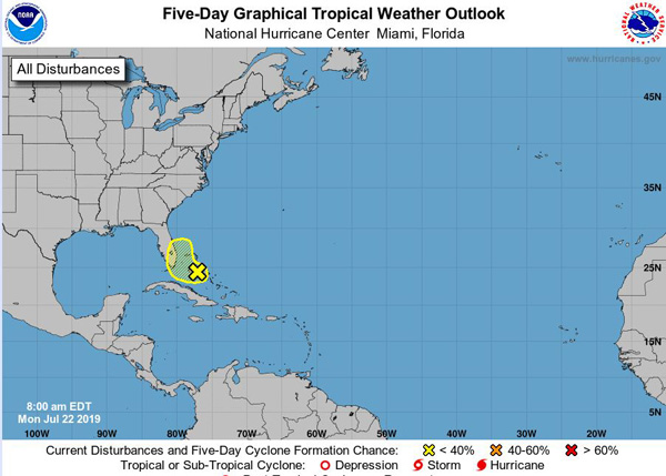 Tropical Disturbance 7-22-2019