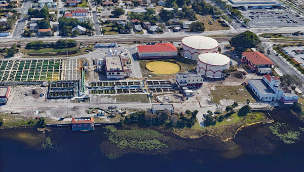 West Palm Beach Water Utility Plant Aerial