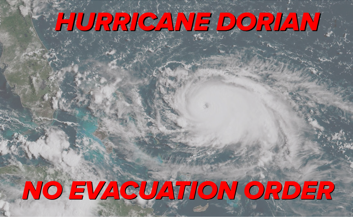 Hurricane Dorian No Evacuation Order
