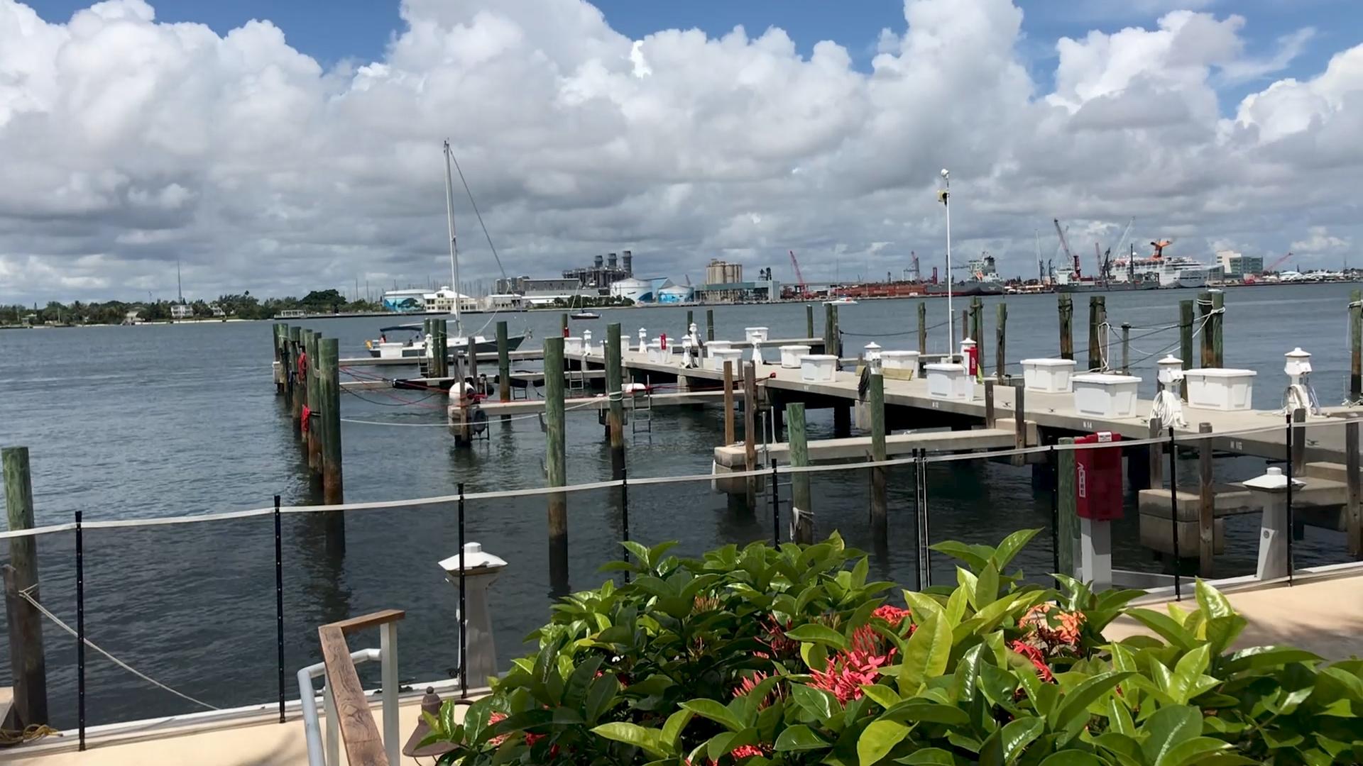 Sailfish Club Marina Cleared of boats 8-30-19 | Palm Beach