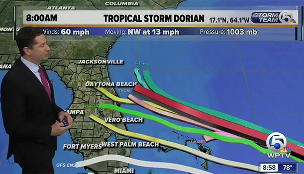 Tropical Storm Dorian WPTV 8-28-19