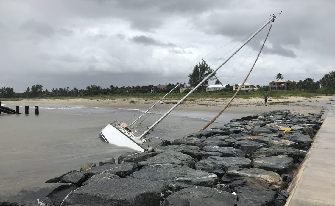 Hurricane Dorian: Sailboat capsized at Inlet