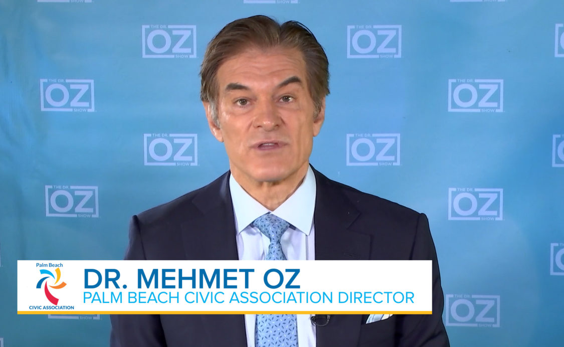 Message from Dr. Oz on shelter in place