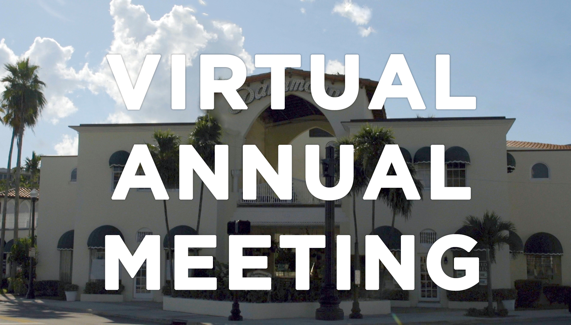 Virtual Annual Meeting Notification 2020
