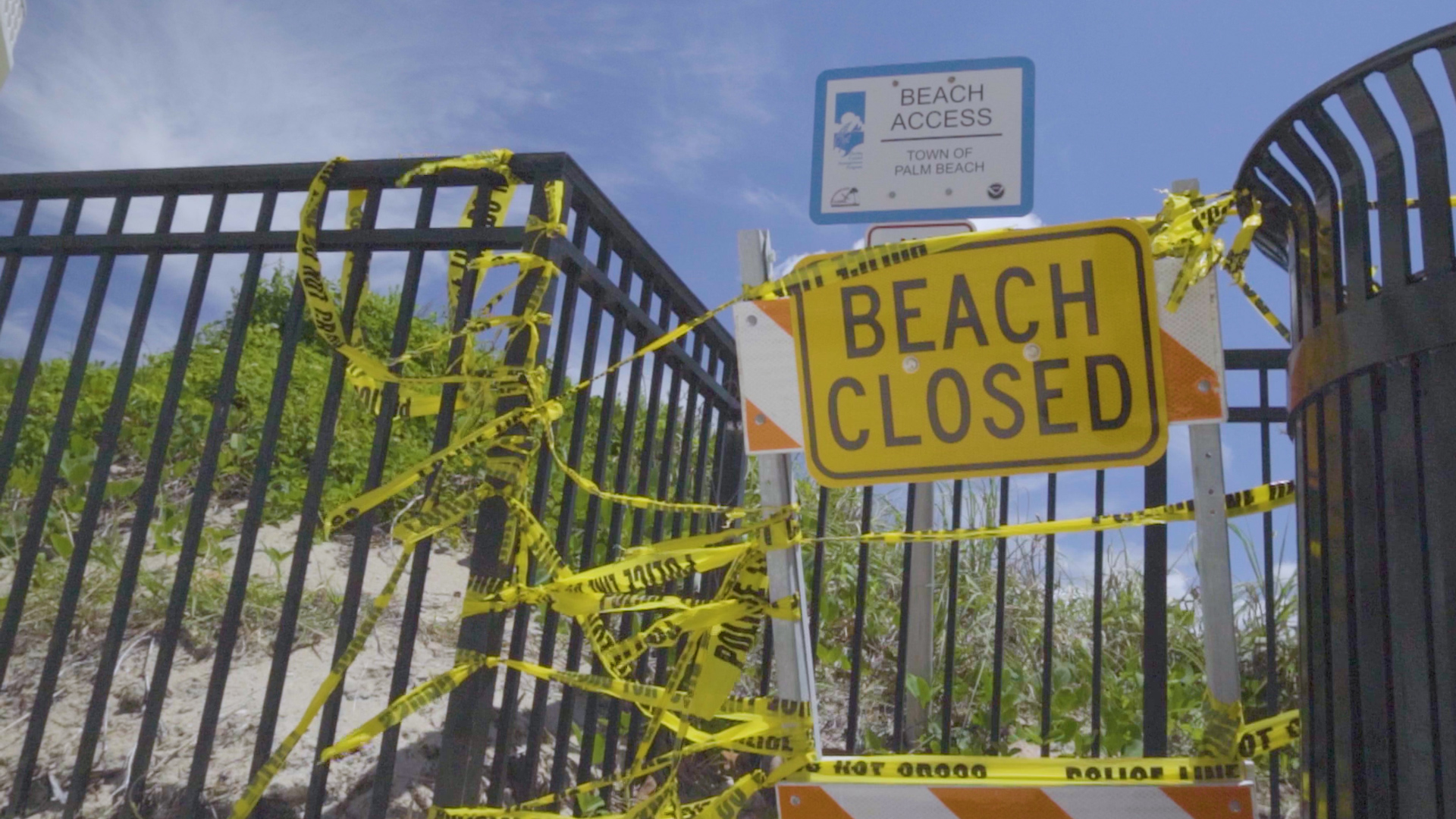 Beaches Closed due to COVID-19
