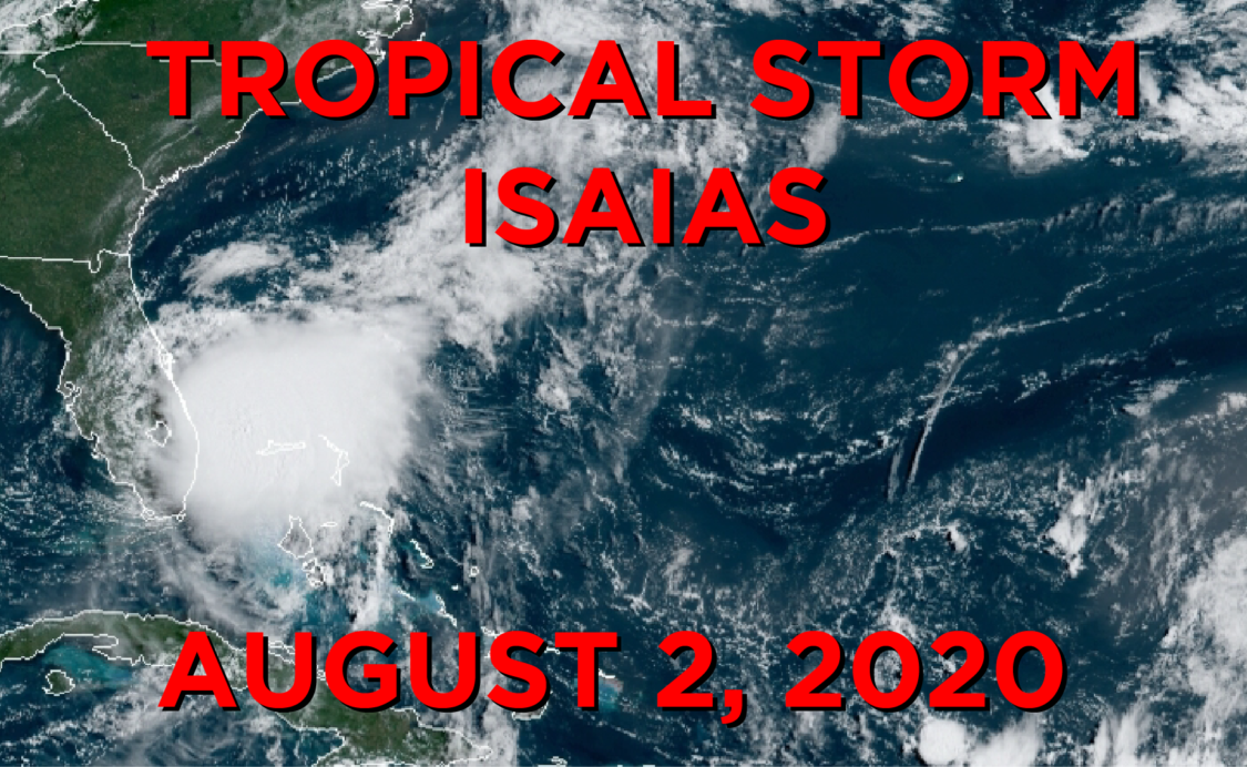 Tropical Storm Isaias August 2, 2020