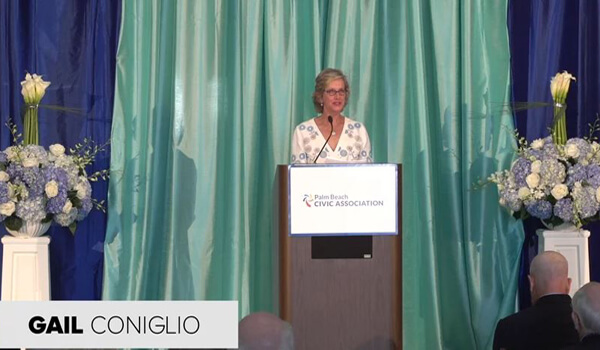 Mayor Gail Coniglio speaking at 2018 PBCA Annual Meeting