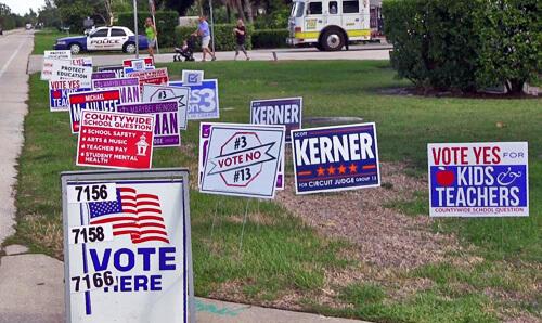 Campaign Signs at South Precinct