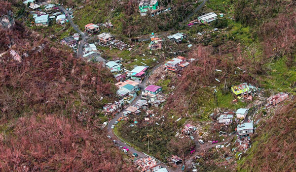 Puerto Rico countryside Hurricane Maria aftermath