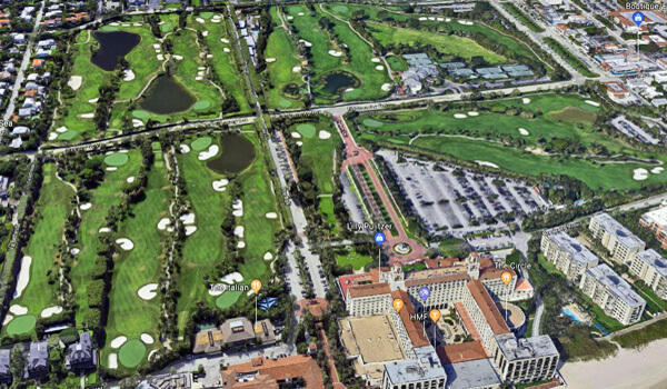 Breakers golf course aerial