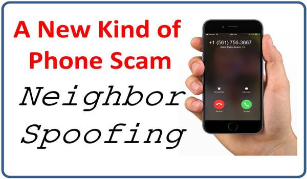 Neighbor Spoofing scam