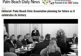 Town of Palm Beach Civic Association Palm Beach Daily News Editorial