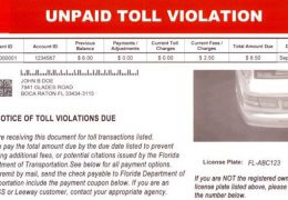 Real Toll Collection Invoice
